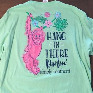 Simply Southern Tee Hang in There Darlin